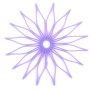Blossom Trivet - Translucent Purple