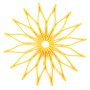 Blossom Trivet - Solar Power Yellow